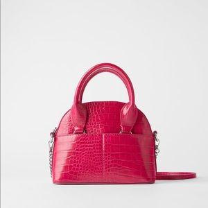 Zara animal embossed mini bowling bag